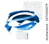 blue brush stroke and texture....   Shutterstock .eps vector #1074334079