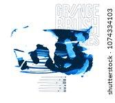 blue brush stroke and texture....   Shutterstock .eps vector #1074334103