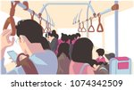illustration of people using... | Shutterstock .eps vector #1074342509