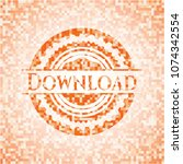 download orange mosaic emblem