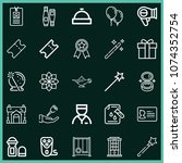 set of 25 other outline icons...   Shutterstock .eps vector #1074352754
