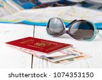 where to go on a trip during... | Shutterstock . vector #1074353150
