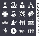 people filled vector icon set... | Shutterstock .eps vector #1074353399