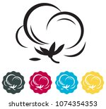 cotton symbol icon as eps 10... | Shutterstock .eps vector #1074354353