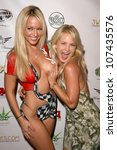 Small photo of Heather Smith and Brandin Rackley at National Lampoon's 'The Great American Fantasy'. Playboy Mansion, Holmby Hills, CA. 09-06-08