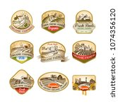 cillection of labels with the... | Shutterstock .eps vector #1074356120