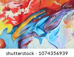 Abstract Graffiti Paintings On...