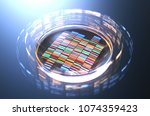 petri dishes with samples for... | Shutterstock . vector #1074359423