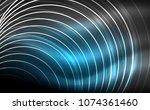 circular glowing neon shapes ... | Shutterstock .eps vector #1074361460