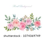 Watercolor Flower Background...