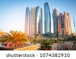 skyscrapers in abu dhabi ...   Shutterstock . vector #1074382910