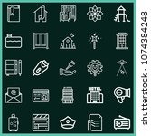 set of 25 other outline icons...   Shutterstock .eps vector #1074384248