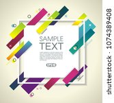abstract geometric background... | Shutterstock .eps vector #1074389408