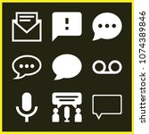 set of 9 message filled icons... | Shutterstock .eps vector #1074389846