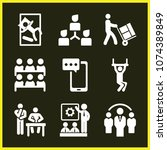 set of 9 people filled icons...   Shutterstock .eps vector #1074389849