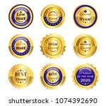 set  collection  group of many... | Shutterstock .eps vector #1074392690