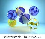 3d rendering inflatable beach...   Shutterstock . vector #1074392720