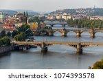 panorama of prague  czech... | Shutterstock . vector #1074393578