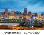 view on downtown of baltimore... | Shutterstock . vector #107439500