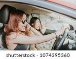 two happy asian girl best...   Shutterstock . vector #1074395360