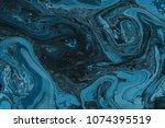 winter blue marble ink paper... | Shutterstock . vector #1074395519