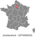 france map vector outline... | Shutterstock .eps vector #1074400310