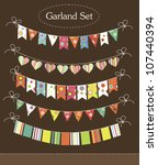 vintage garland collection.... | Shutterstock .eps vector #107440394