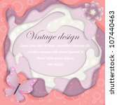 paper vintage card with... | Shutterstock .eps vector #107440463