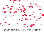 red and pink heart. valentine's ... | Shutterstock . vector #1074407846