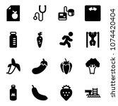 solid vector icon set   diet... | Shutterstock .eps vector #1074420404