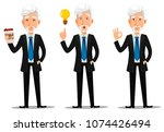 business man in office style... | Shutterstock .eps vector #1074426494