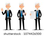 business man in office style... | Shutterstock .eps vector #1074426500