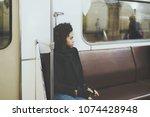 portrait of young african... | Shutterstock . vector #1074428948