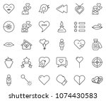 thin line icon set   berry... | Shutterstock .eps vector #1074430583