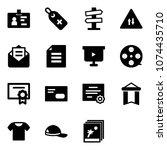 solid vector icon set  ...   Shutterstock .eps vector #1074435710