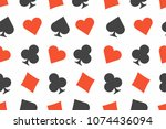 seamless background with card... | Shutterstock .eps vector #1074436094