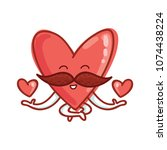 mister heart character with... | Shutterstock .eps vector #1074438224