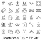 thin line icon set   offshore... | Shutterstock .eps vector #1074444989