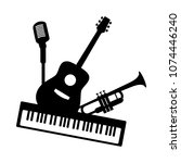 music jazz band group concept... | Shutterstock .eps vector #1074446240