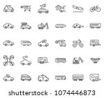 thin line icon set   home... | Shutterstock .eps vector #1074446873