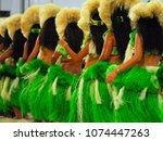 group of polynesian dancers in... | Shutterstock . vector #1074447263