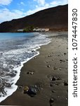 black beach of giniginamar...   Shutterstock . vector #1074447830