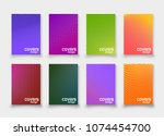 abstract vector cover design... | Shutterstock .eps vector #1074454700