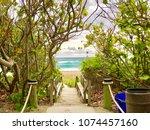 paradise beach florida   Shutterstock . vector #1074457160
