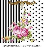 silk scarf design  fashion...   Shutterstock . vector #1074462254