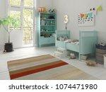 children room scandinavian... | Shutterstock . vector #1074471980