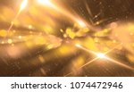 abstract gold bokeh circles on... | Shutterstock . vector #1074472946