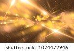 abstract gold bokeh circles on... | Shutterstock . vector #1074472946