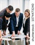business briefing. leadership.... | Shutterstock . vector #1074473240