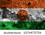 Small photo of Old Niger grunge background flag